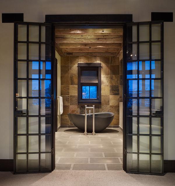 Lamparas Para Baño Tecnolite:Rustic Modern Master Bathrooms