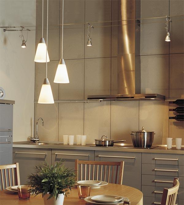 Bonito Iluminación Isla De La Cocina Fría Motivo - Ideas de ...