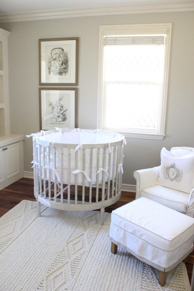 Bonito Muebles De La Cuna Del Bebé Redonda Colección de Imágenes ...