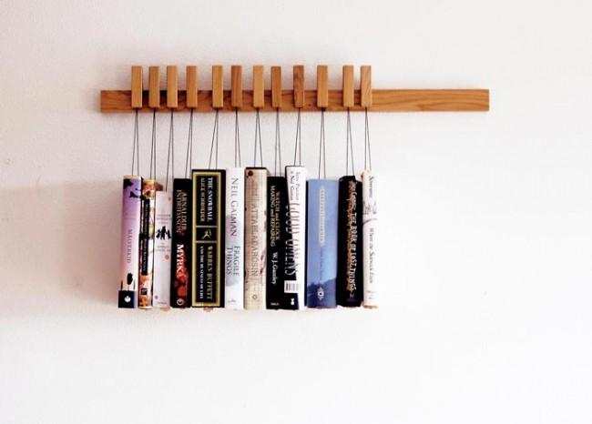 Pinzas librero for Librero escalera