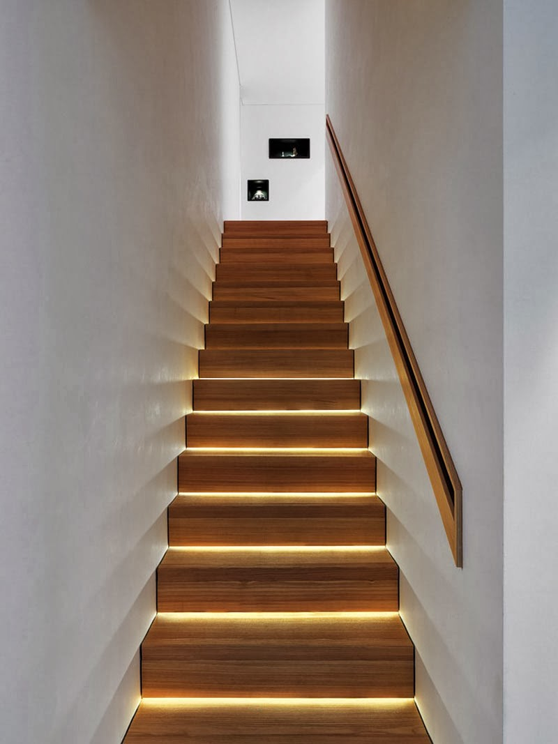 Tendencias y consejos de iluminaci n para el hogar - Escaleras para exterior ...