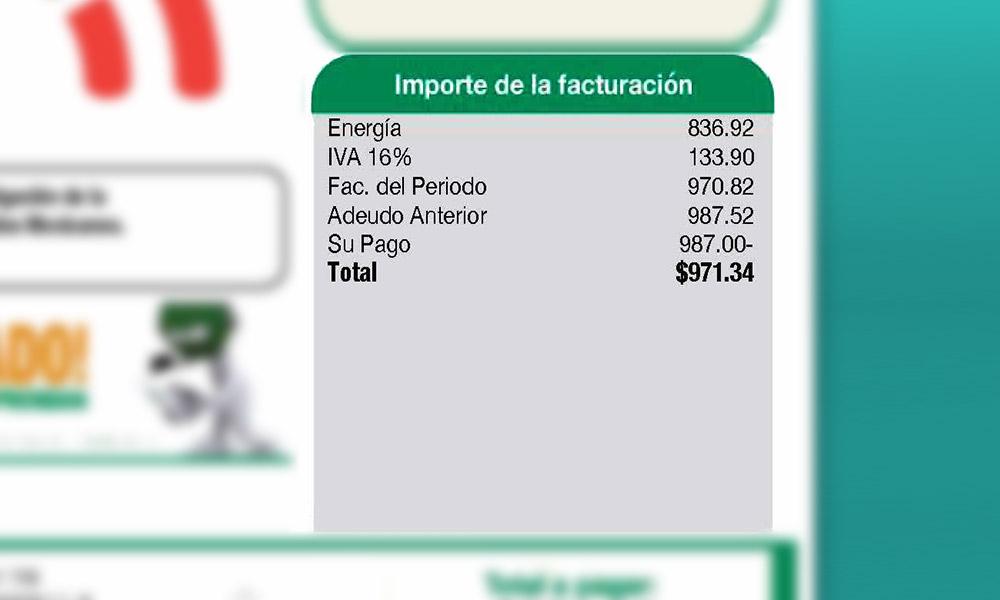 Importe de facturación