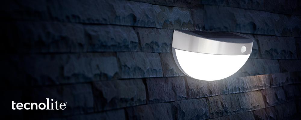 Lámpara solar arbotante