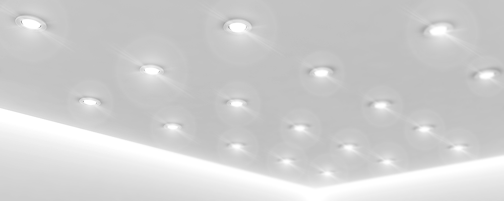 Luminarias empotradas a techo