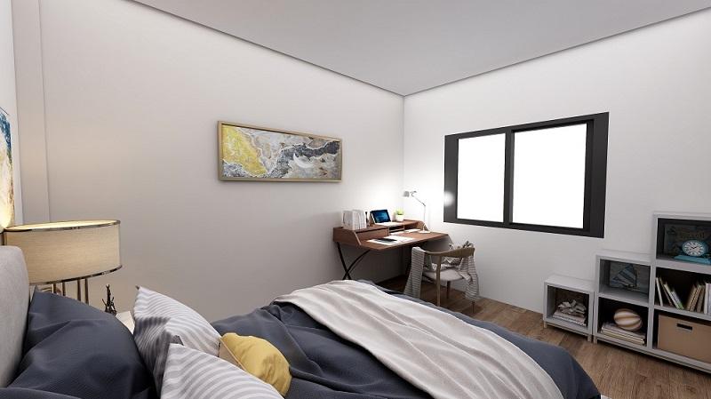 Habitación con iluminación encendida